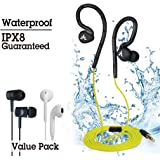 Avantree Ecouteurs waterproof spécial natation   Garantie IPX8   Attache d'oreille à mémoire   Pack économique   Ecouteurs spécial sport intérieur ou extérieur, disponible en 3 couleurs différentes.