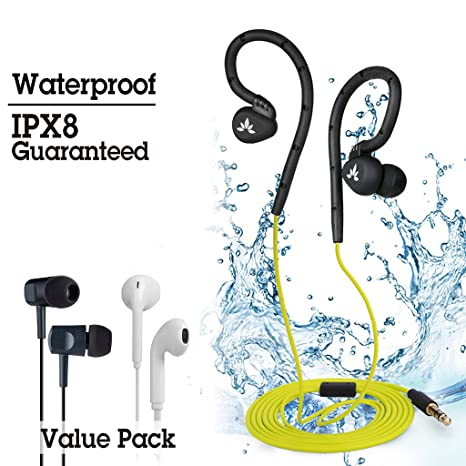 Avantree Auricolari Nuoto Impermeabile Impermeabili Auricolare per il Nuoto  Garantiti IPX8 Gancio per Padiglione 6dba668fc4fb