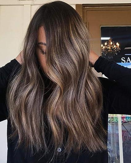 Laavoo 16 Pollici U Tip Hair Extensions Human Hair 4184 Marrone Scuro A Biondo Cenere E Marrone Scuro U Tip Nail Hair Capelli Naturali Lisci