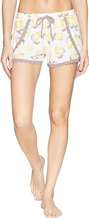 54399d9d6 P.J. Salvage Women s Playful Prints Lemon Shorts Ivory X-Large ...