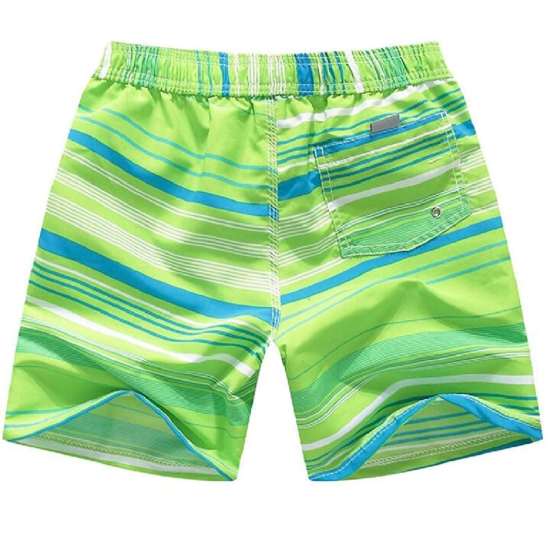 Lutratocro Boys Summer Multicolor Holiday Cool Dry Striped Beachwear Short Pants