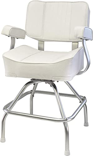 Springfield Deluxe Captain s Chair and Stand Package, White