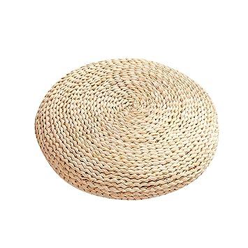 Cojín de yoga cojín de meditación cojín redondo cojín zafu cojín de pajita de peluche de maíz Tatami Pur Natural alfombra de Yoga – fancylande