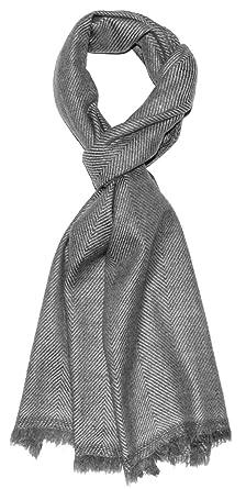 magasin discount prix bas grande vente Lorenzo Cana Echarpe de 100% Cachemire pour l`homme – écharpe en nuances  naturelles, 30 x 180 cm - moelleux et noble – une sensation de luxe en noir  ...