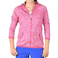 Xin Hui Bao Women's Lightweight, Full Zip Running Track Jacket Hoodie