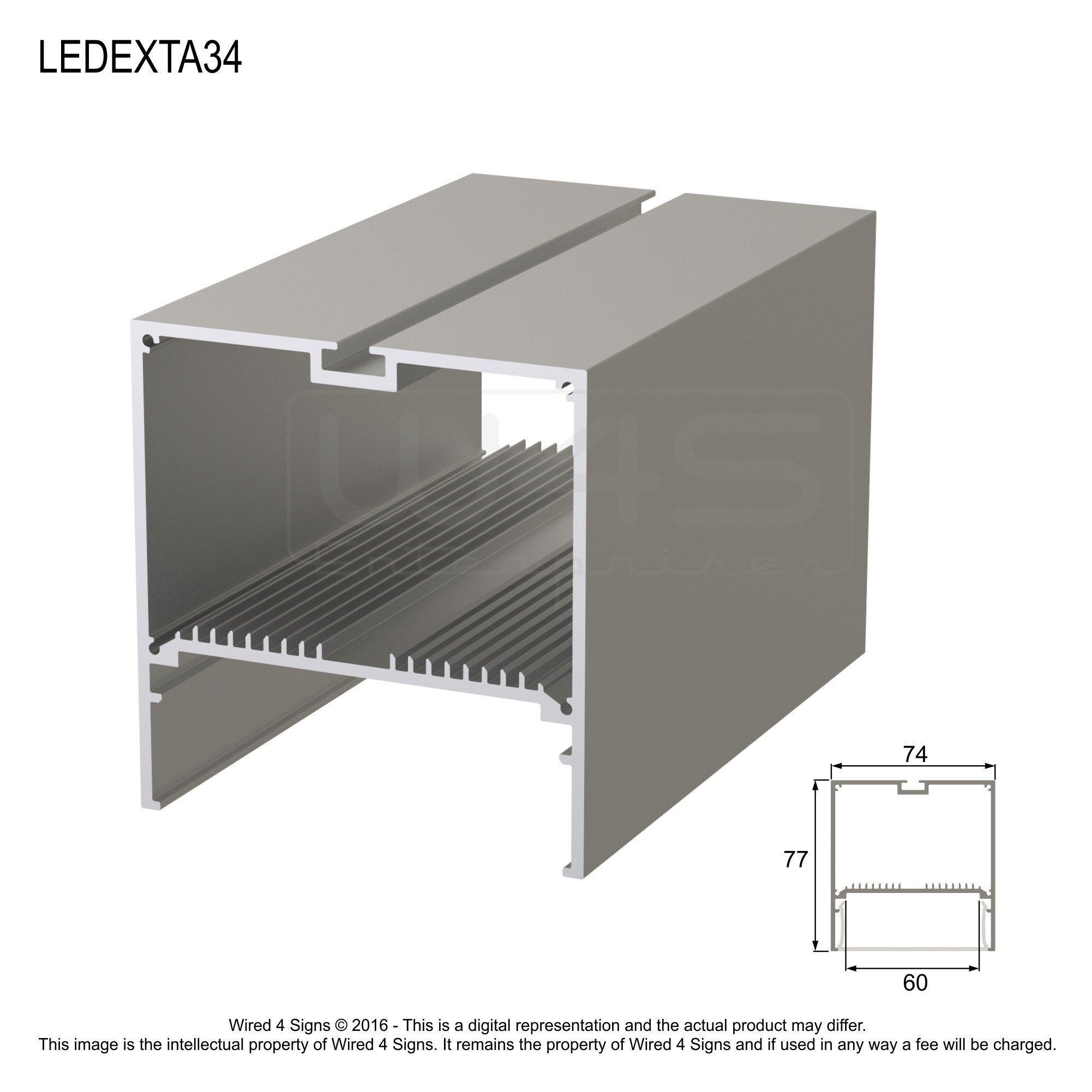 Rectangular LED Linear Pendant- Model A34 [Profile Only]
