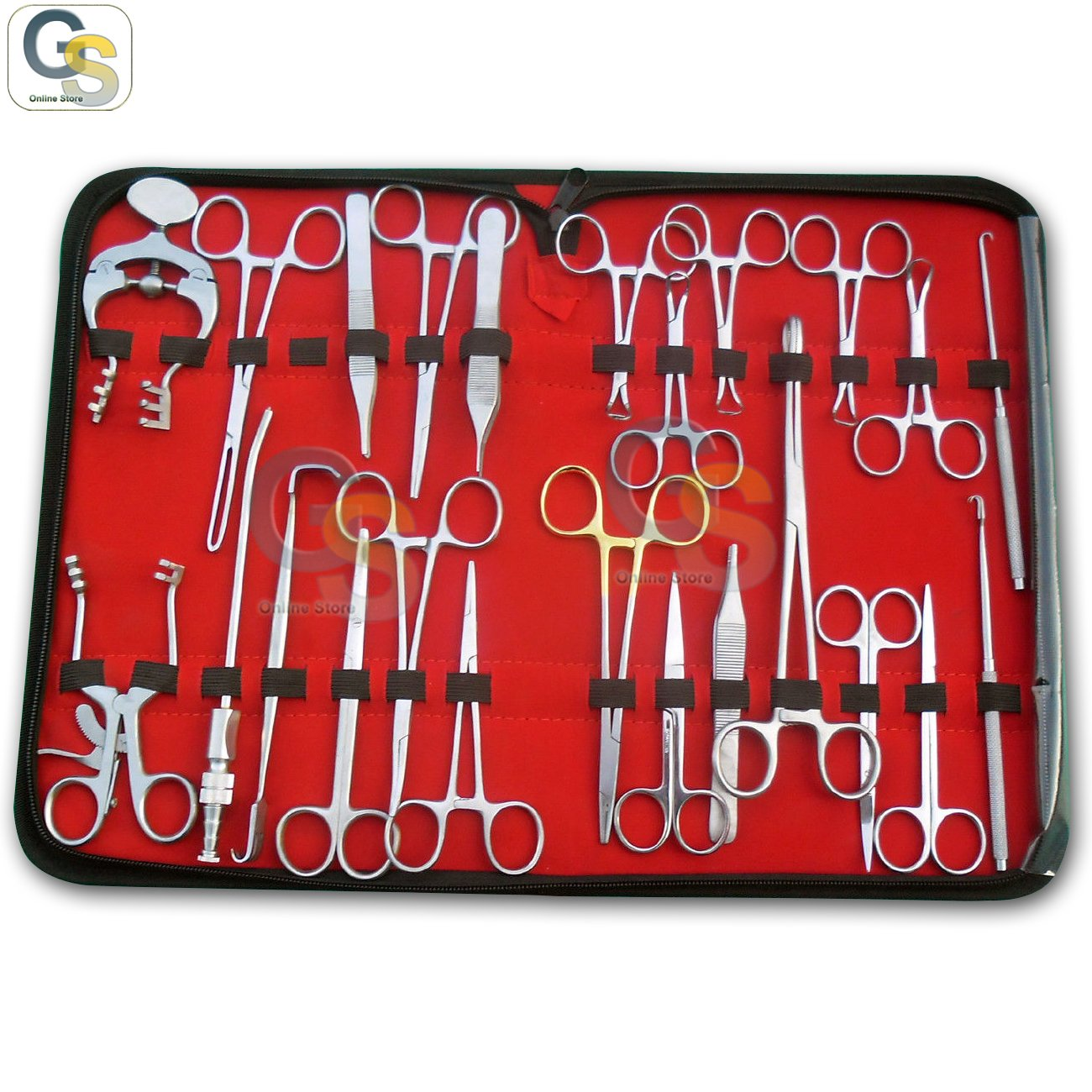 G.S 36 PCS PROFESSIONAL KIT INSTRUMENTS by G.S SURGICAL