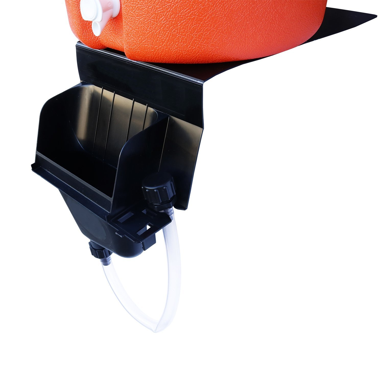 Igloo 5-Gallon Heavy-Duty Beverage Cooler, Orange & Ultimate Drip Catcher Set - Black - Catch All Your Drips, Seeps, Leaks Accidental Pours! by Igloo (Image #7)