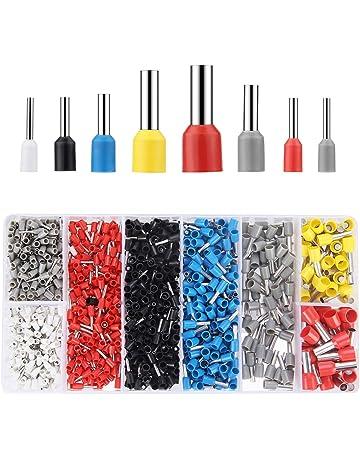 Preciva 1200pcs Terminales cables electricos 0,5 ~10 mm² Multi-tamaño Terminal para