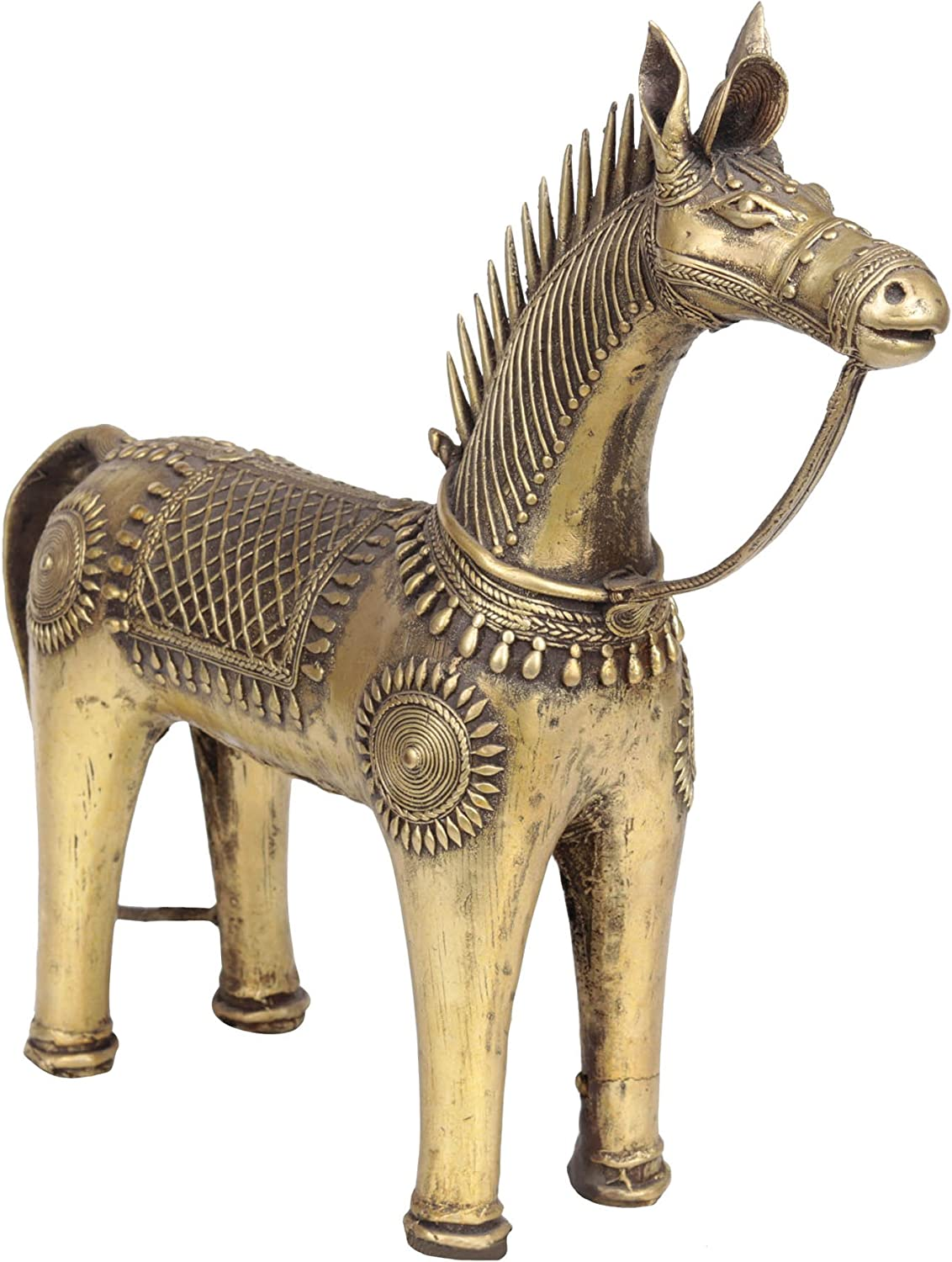 Exotic India Tribal Horse Home Décor Statue