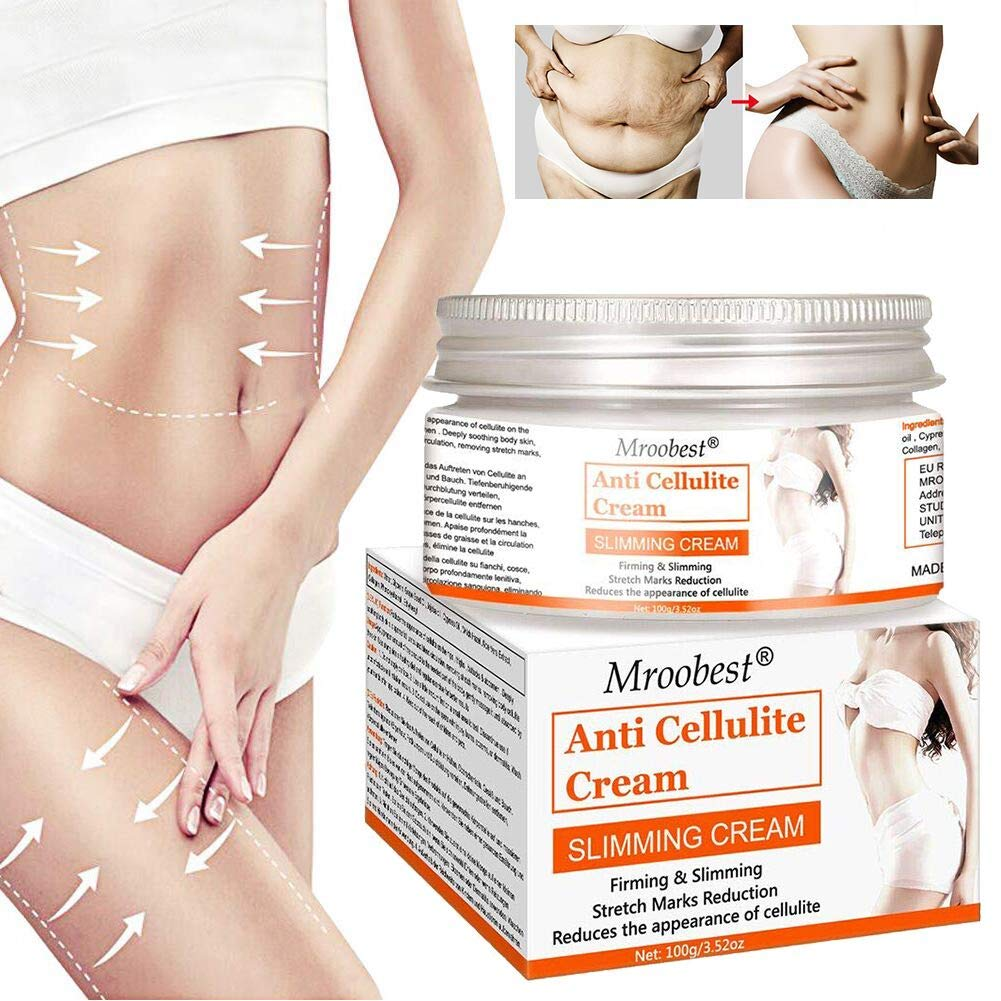 Anti Cellulite Cream, Slimming Cream, Hot Cream, Organic Body Slimming Cream, Natural Cellulite Treatment Cream for Thighs, Legs, Abdomen, Arms and Buttocks, for Body Sculpting