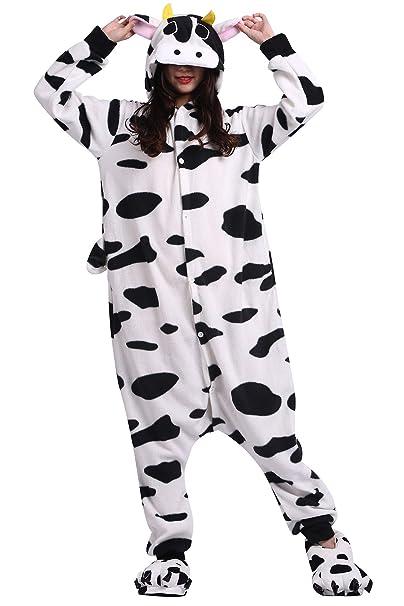 Pijama Animados Kigurumi Cosplay Vaca Animal para Adulto Unisex: Amazon.es: Ropa y accesorios
