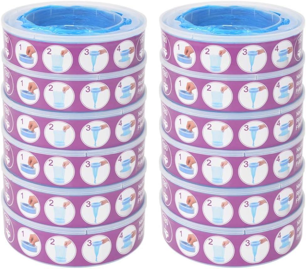 vidaXL 24x Cassettes de Recharge pour Angelcare Diaper Genie Poubelle /à Couche