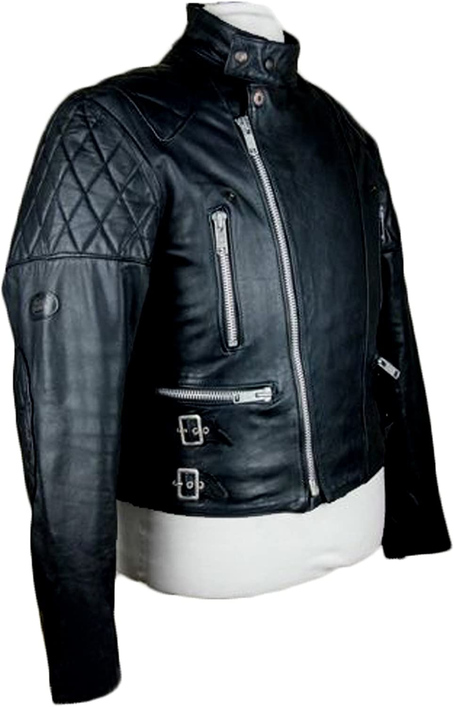 Men Leather Jacket Coat Motorcycle Biker Slim Fit Outwear Jackets T1166