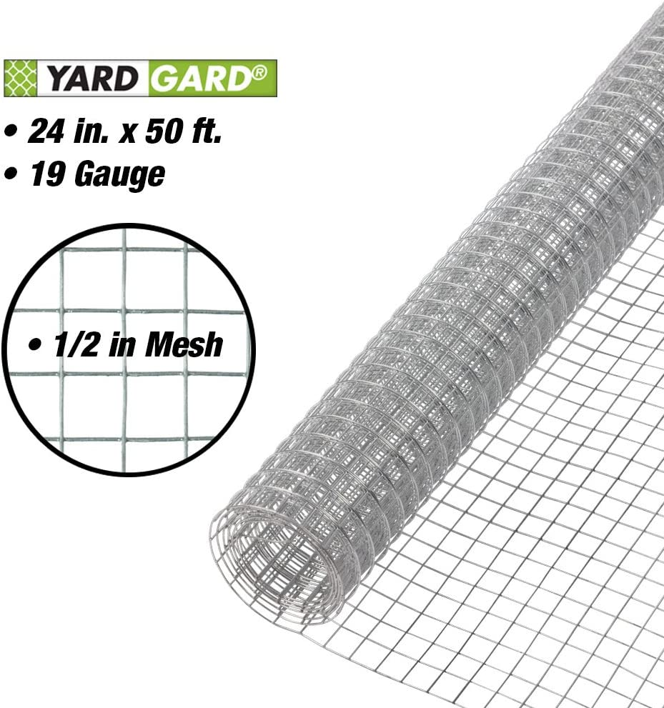 Silver YARDGARD 308199B Hardware Cloth 24 Inch x 50 Foot Pack of 2