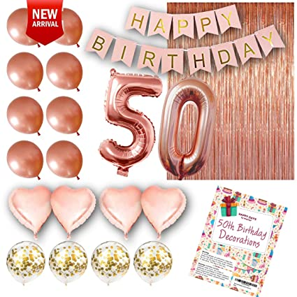 Amazon 50th Birthday Decorations