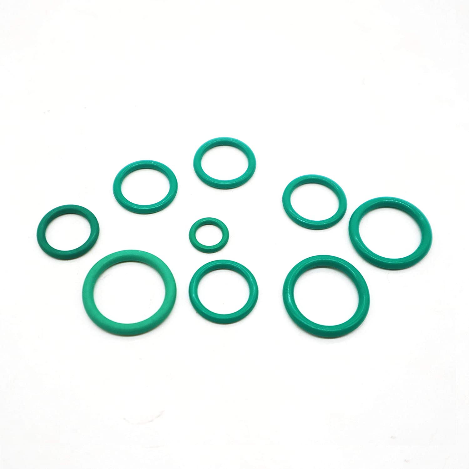 FKM Rubber O Rings Seal Assortment Set With Case 150PCS for Insulation Gasket Plumbing Air Conditioning Car Auto Vehicle Repair General Repair 15 Popular sizes Universal Use Green