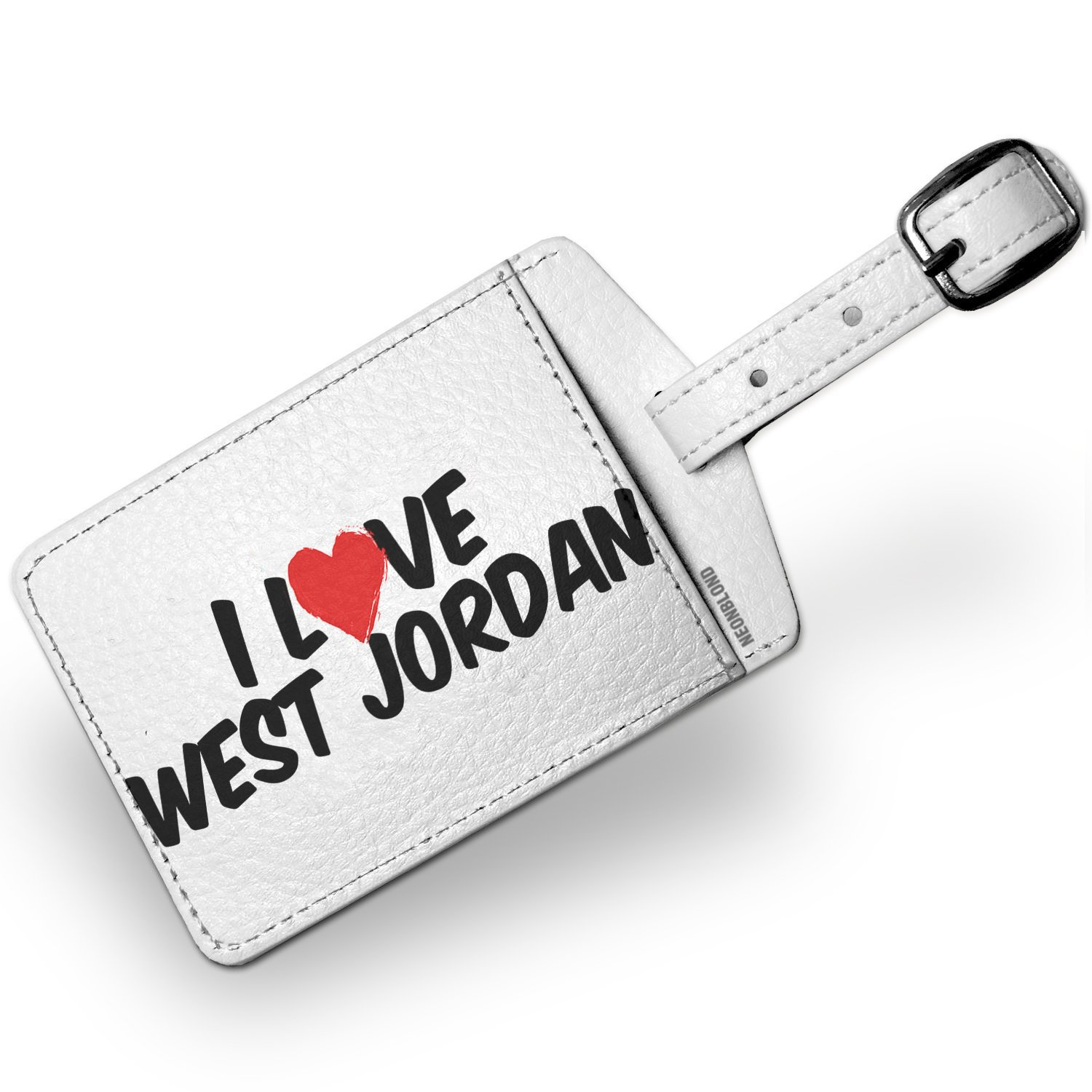 Luggage Tag I Love West Jordan - NEONBLOND