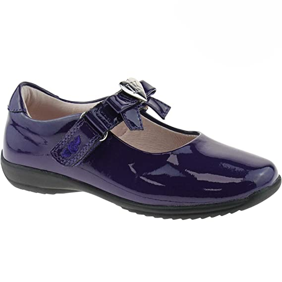 0b3ad8179a90a Lelli Kelly LK8000 (DW01) Purple Patent Rachel School Dolly Shoes F Width-25