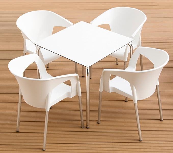 Lote de 4 sillones - Sillón Alfa para terraza de plastico ...