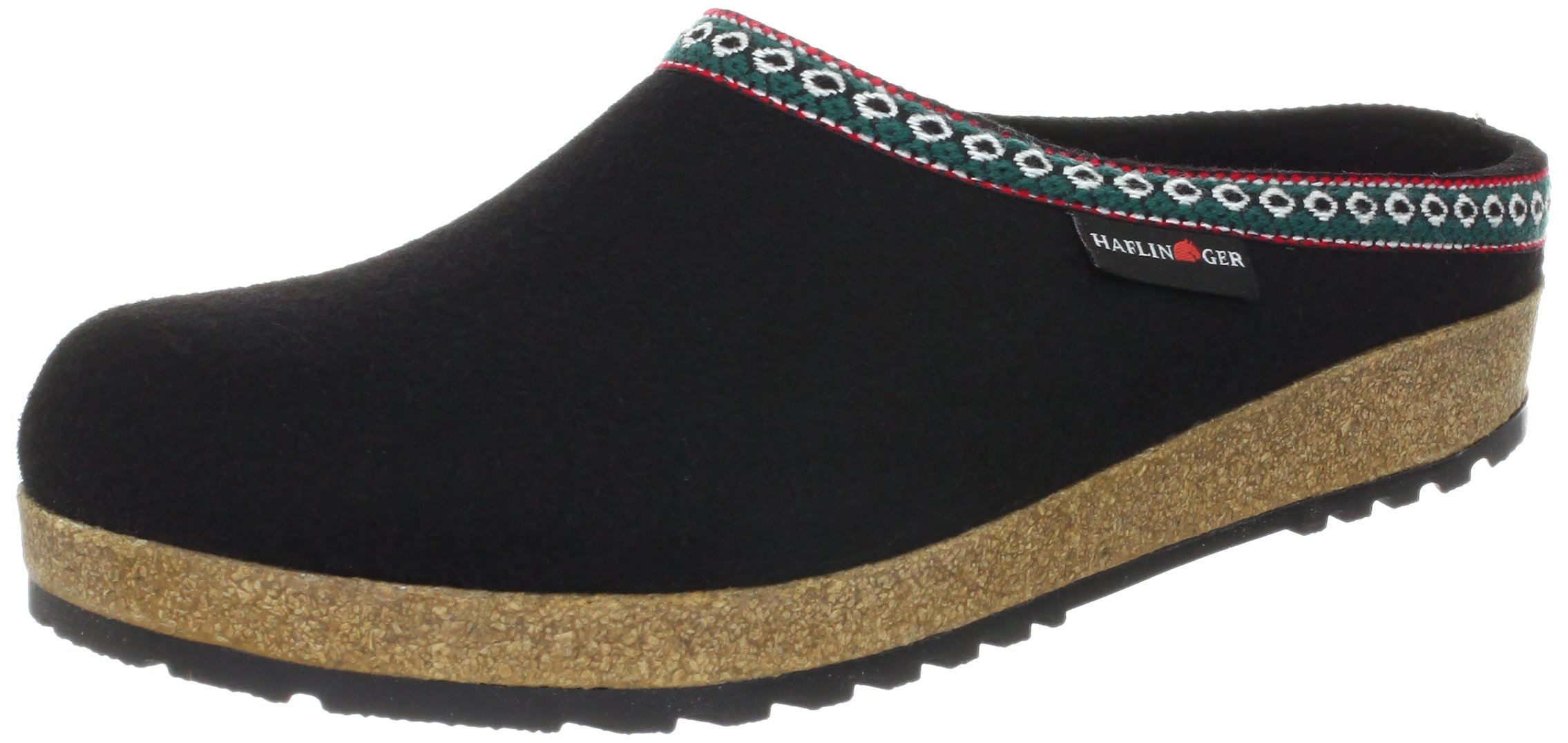 Haflinger Classic Grizzly Clogs,Black,36 M EU by Haflinger