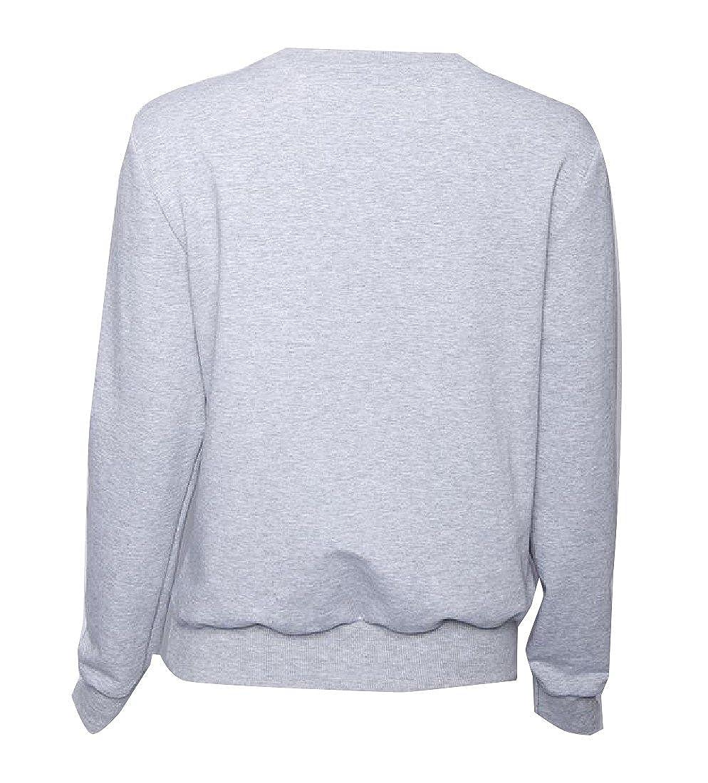 Honey GD Women Solid-Colored Cozy Stylish Crew Neck Pullover Sweatshirt