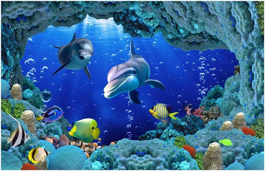 122 * 46cm Fish Tank Poster Background,Underwater Forest Tank Style Aquarium Poster Background Fish Tank Decorations PVC Adhesive Decor Paper Waterproof Decor for Fish Tank and Aquarium