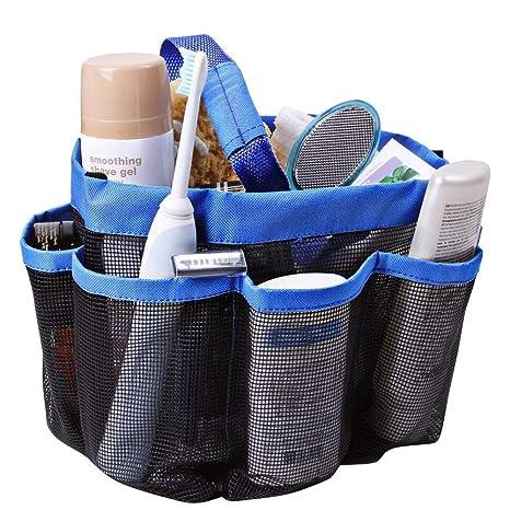 Munisa malla ducha Tote secado rápido para colgar de almacenamiento de aseo de baño organizador con