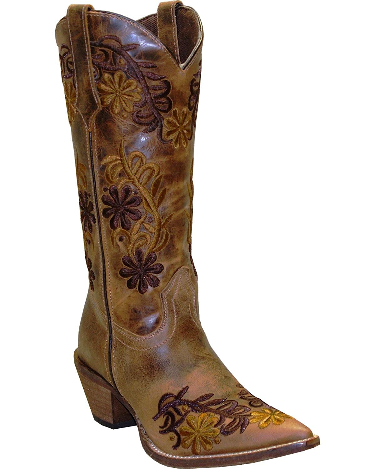 be5e97ea188 Abilene Women's Rawhide by Boot Floral Cowgirl Pointed Toe