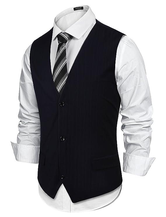 Burlady Herren Western Weste Herren Anzug Weste V-Ausschnitt Ärmellose  Westen Slim Fit Anzug Business Hochzeit: Amazon.de: Bekleidung
