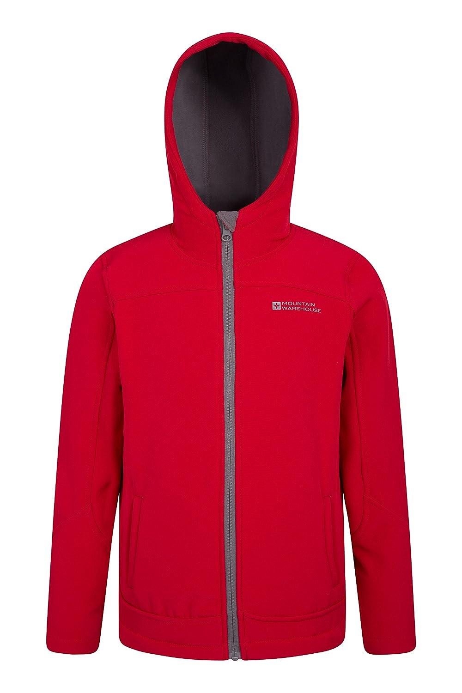 Mountain Warehouse Exodus Kids Softshell Jacket - Cool Childrens Coat