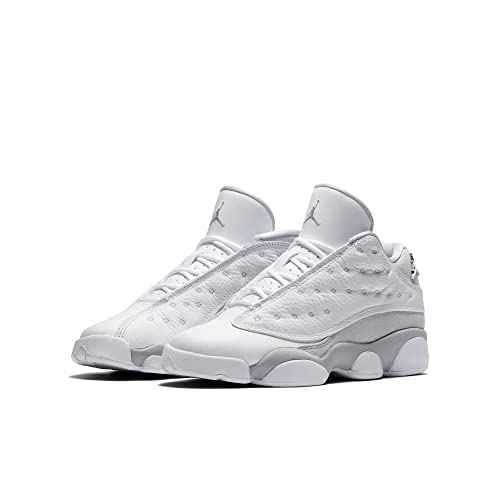 494f42d252069 Jordan 13 Low Big Kids Shoe White/Metallic Silver 310811-100