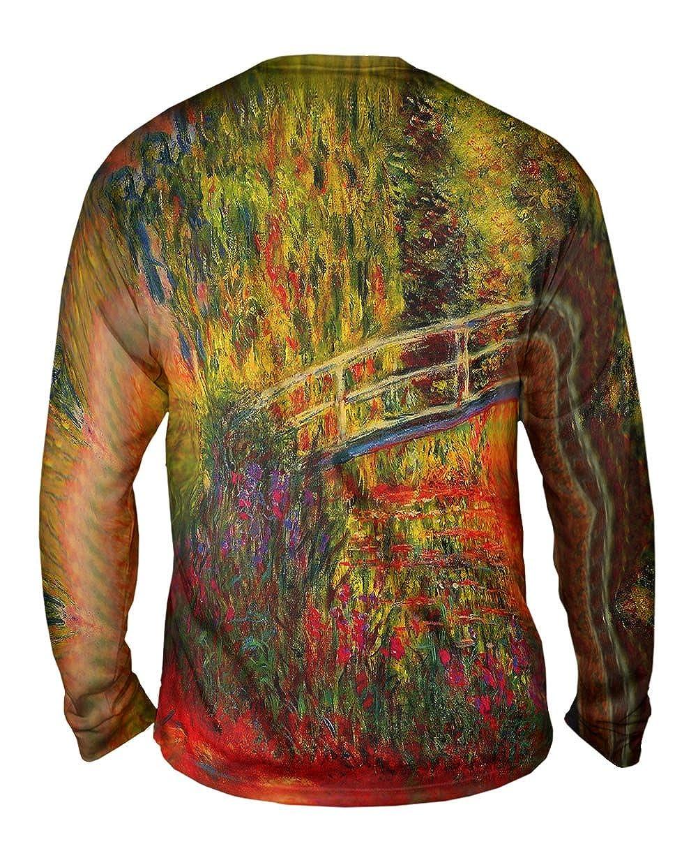 Mens Long Sleeve 1900 Water Lily Pond Yizzam -TShirt Monet