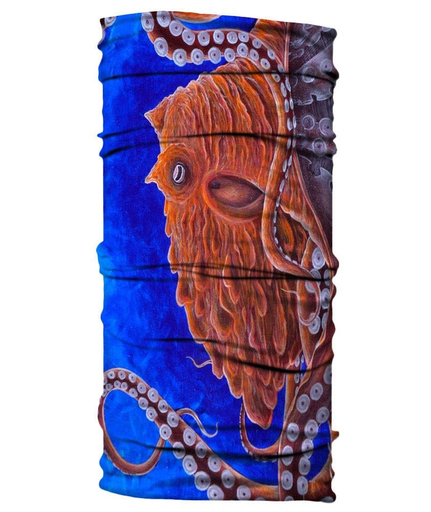 Born of Water Neck Gaiter: Giant Pacific Octopus - Fishing Face Mask Shield UV Sun Protection