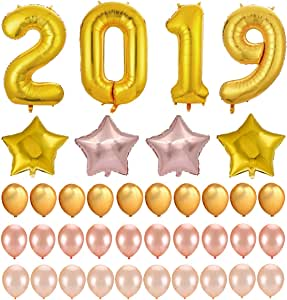Amazon.com: 2019 New Years Eve Party Supplies Decorations ...