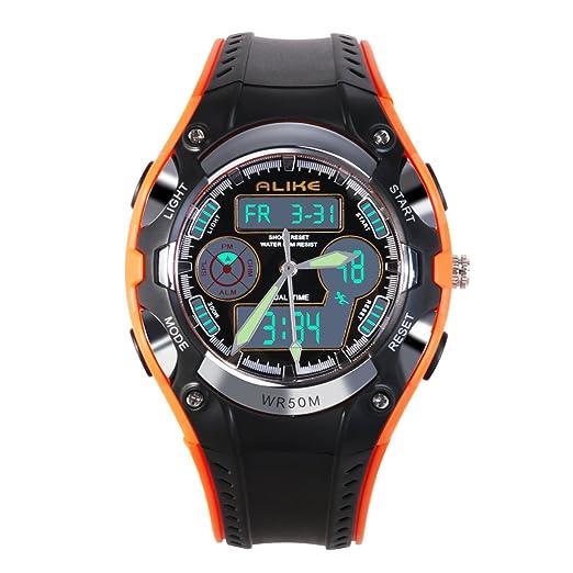 nicerio relojes deportivos Alike AK9132 impermeable reloj de exterior para niños, reloj de cuarzo con reloj de pulsera digital LED reloj digital: Amazon.es: ...