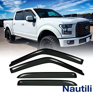 Super Crew Cab >> 4pcs Vent Shade Deflector Window Visors Haihua For 15 18 Ford F150 Crew Supercrew Cab 17 18 Ford F250 F350 Super Duty Crew Supercrew Cab Rain Sun