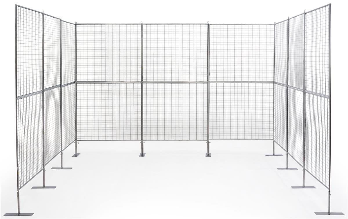 Displays2go Gridwall Booth Display, Iron Construction – Silver Finish (AD9PNL)