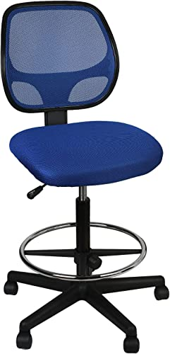 eclife Office Chair Blue Ergonomic Mesh Computer Chair Comfort Adjustable Tall Standing Swivel Chair