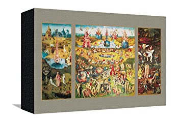The Garden Of Earthly Delights Stretched Canvas Print By Hieronymus Bosch    11 X 7.5 In