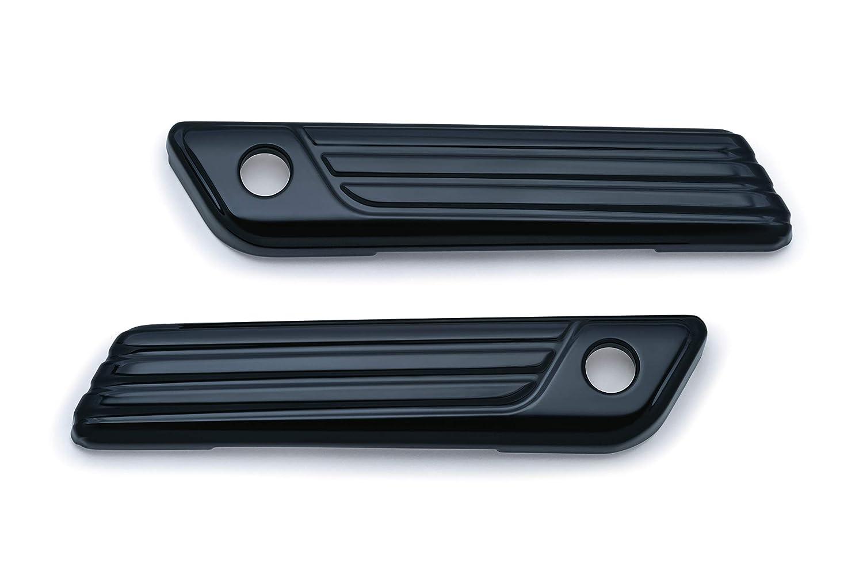 Kuryakyn 6987 Tri-Line Gloss Black Saddlebag Hinge Cover