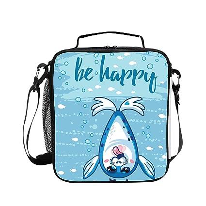 73b967c6e277 Amazon.com - Levendem Cartoon Baby Seal Handy Portable Zipper Lunch ...