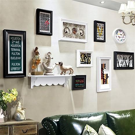 Werm Rahmen Foto Wand Kombination Amerikanischer Stil Retro Hintergrundwand Fotowand Kreativ Regal Hängende Wand Foto Rahmen Kombination Dekoration B Küche Haushalt