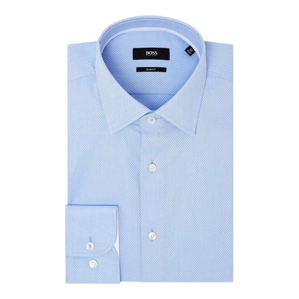 (ヒューゴ ボス) Hugo Boss メンズ トップス シャツ Jesse Slim Tonal Structure Shirt With Trim [並行輸入品] B07FC5Q4FY 16.5
