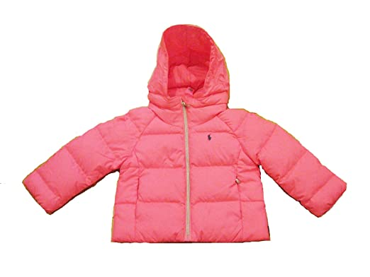 d4da7789c70a Amazon.com  Ralph Lauren Baby Girl Quilted DOWN Jacket 9 Month Pink ...
