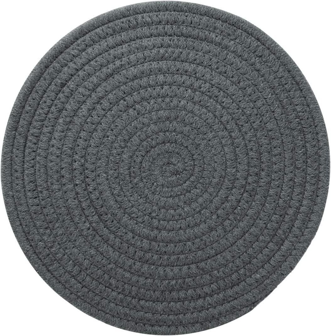 FUNLAVIE Hot Pads Trivits for Table Pure Cotton Thread Weave Round Hot Pot Holders for Cooking Diameter 11.8 Inches