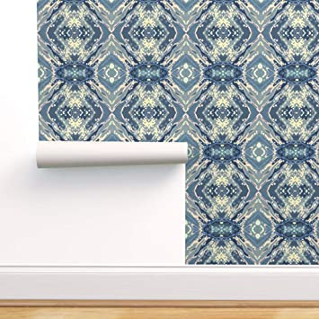 Spoonflower Peel And Stick Removable Wallpaper Coastal Nautical Juul Art Margaret Beach Transitional Contemporary Print Self Adhesive Wallpaper 24in X 36in Roll Amazon Com