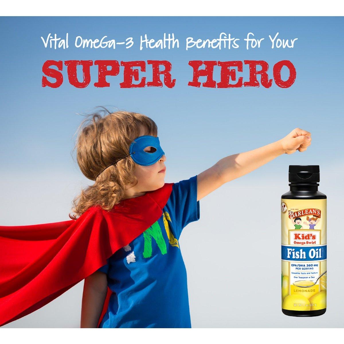 Barleans Organic Oils - Kids Omega Swirl Fish Oil 8 oz: Amazon.es: Salud y cuidado personal