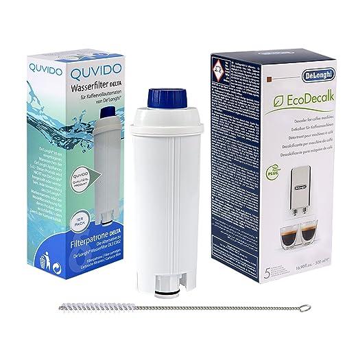 QUVIDO - 1 x Filtro de agua Delta para DeLonghi cafeteras + ...