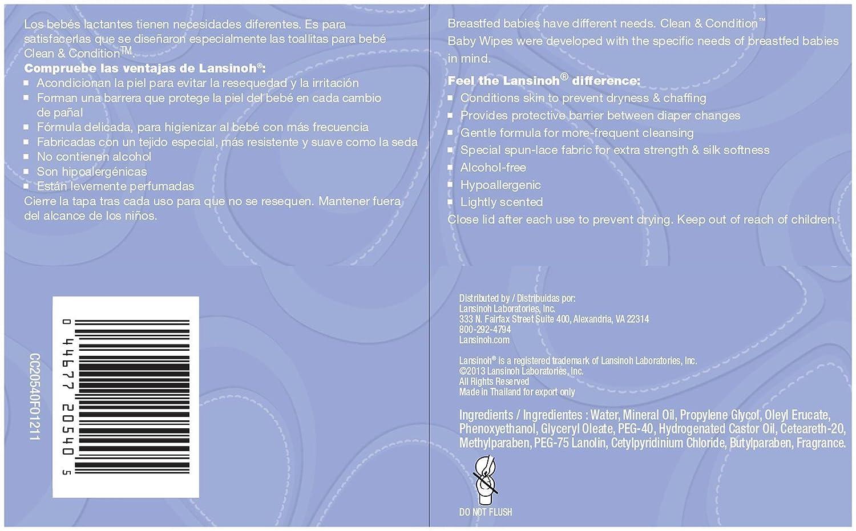 Lansinoh - Toallitas Húmedas de Bebé con Lanolina, 80 uds: Amazon.es: Bebé
